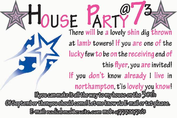 house party invite