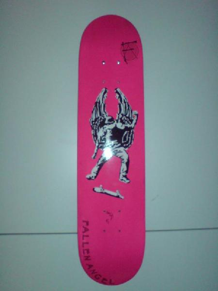 pink kick flip board