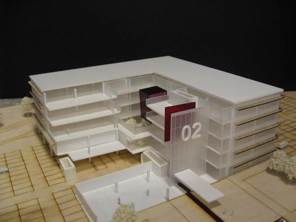 office block cutaway. 