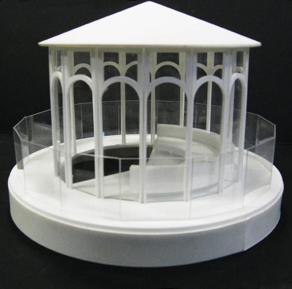 Aidan Lamb : architectural models : pavilion study model